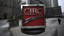 Exteriors of the CIBC sign located on the sidewalk outside the bank's head offices at the corner of King St. West and Bay St. on Dec 29 2011. (Fred Lum/Fred Lum/The Globe and Mail)