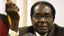 Zimbabwean President Robert Mugabe speaks during a press conference (DESMOND KWANDE)