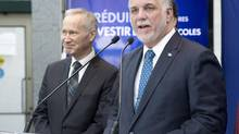 Quebec Liberal Party Leader Philippe Couillard unveils his education platform, Monday, March 10, 2014 in Quebec City. (Jacques Boissinot/THE CANADIAN PRESS)