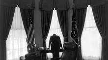 President John F. Kennedy in the Oval Office of the White House in Washington, Feb. 19, 1961. Though the Cuban Missile Crisis took place over a year later, the image has become an iconic representation of what has been characterized as the loneliest job in the world. It's been more than 50 years since the confrontation between the U.S. and the Soviet Union over the positioning of nuclear missiles in Cuba. (GEORGE TAMES/NYT)