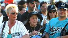 Florida Marlins fans wait to enter the stadium in this file photo. (Ozier Muhammad/NYT)