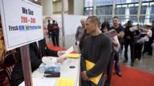 Job fair (Matthew Sherwood for The Globe and Mail)