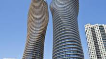 The Absolute World towers in Mississauga. (RYAN ENN HUGHES/NYT)