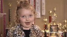 "Screen grab from a YouTube video showing six-year-old Alana on the TLC show ""Toddlers and Tiaras"""
