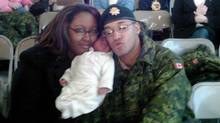 Shanna and Lionel Desmond hold their daughter Aaliyah in a photo from the Facebook page of Shanna Desmond. (THE CANADIAN PRESS)