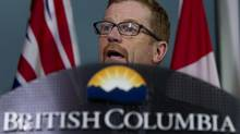 B.C. Environment Minister Terry Lake says Enbridge's answers to the province's questions at the public hearings for the proposed Northern Gateway pipeline are inadequate. But Enbridge says the government refuses to sit down with the company and talk, and criticized B.C. for debating through the media – making that point in a press release. (JONATHAN HAYWARD/THE CANADIAN PRESS)