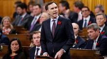 Canada's Finance Minister Bill Morneau delivers the Fall Economic Statement in the House of Commons on Parliament Hill in Ottawa, Ontario, Canada, November 1, 2016. (CHRIS WATTIE/REUTERS)