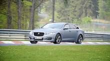 A Jaguar XJ Supersport on the track. (Jaguar/Jaguar)