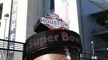 A countdown to Super Bowl LI scrolls outside of NRG Stadium in Houston on Jan. 7, 2017. (Troy Taormina/USA Today Sports)