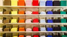 Folded clothes in the department store (Rrrainbow/Getty Images/iStockphoto)