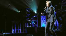 Comedian Conan O'Brien performs at Radio City Music Hall in New York City. (Jemal Countess/Getty Images)