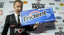 "Morgan Spurlock at the premiere of his new film ""The Greatest Movie Ever Sold"" in Hollywood last week. (AP)"