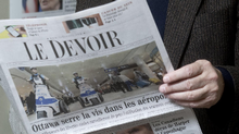 Brian Myles, head of Montreal Le Devoir, said investigative journalists have had to take exceptional measures such as avoiding meetings in public places. (Paul Chiasson/The Canadian Press)