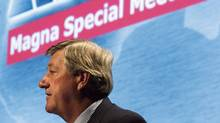 Magna chairman Mike Harris chairs a special meeting of shareholders in Toronto, Tuesday Aug. 28, 2007. (Adrian Wyld/Adrian Wyld/The Canadian Press)
