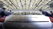 Luxury car manufacturers are increasing sales to Asia. Porsche's Panamera S at a Shanghai auto show. (Aly Song/REUTERS)