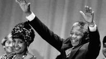 Winnie Mandela and Nelson Mandela during their visit to Toronto on June 19, 1990. (John McNeill/The Globe and Mail/John McNeill/The Globe and Mail)