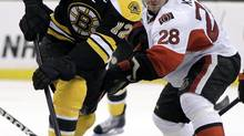 In this file photo then Ottawa Senators center Zenon Konopka is seen during an NHL game. (Elise Amendola/AP)
