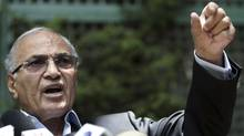 Former Prime Minister and presidential candidate Ahmed Shafiq talks during a news conference in Cairo, May 14, 2012. (Amr Abdallah Dalsh/REUTERS/Amr Abdallah Dalsh/REUTERS)