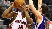 Toronto Raptors' DeMar DeRozan scored 18 points in his team's 102-96 over Spain's Real Madrid on Monday at the Air Canada Centre (file photo). (FRED THORNHILL/REUTERS)
