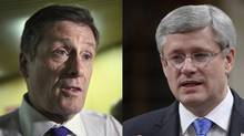 Toronto Mayor John Tory and Prime Minister Stephen Harper held a private meeting on Dec. 11, 2014.