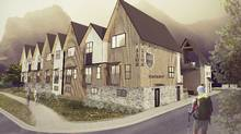 An artists's rendering of Big Moose Realty's development in Canmore, Alta. Phase One includes 34 nightly vacation rental units and four affordable housing units for employees. (Studio North)