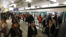 <252>The Saint-Lazare metro station is part of 214 kilometres of subway lines in Paris. Benoit Tessier / (REUTERS)