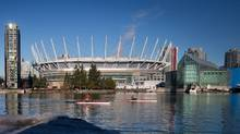 Share of Canam Group Inc., manufacturer of the retractable roof at BC Place, have outperformed the S&P/TSX composite index by 25 per cent over the past year. (Darryl Dyck/THE CANADIAN PRESS)