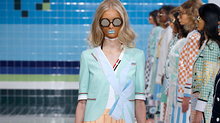 A model walks the runway at the Thom Browne fashion show during New York Fashion Week on September 12, 2016 in New York City. (Getty Images)