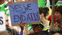 AIDS activists rally across from the White House in Washington on July 24, 2012. (KEVIN LAMARQUE/REUTERS)
