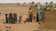 The village of Goulgoultoun in northern Burkina Faso, located near a Canadian gold mine. (Geoffrey York/The Globe and Mail)
