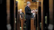 Canada's Prime Minister Stephen Harper speaks during Question Period in the House of Commons on Parliament Hill in Ottawa Jan. 30, 2012. (CHRIS WATTIE/CHRIS WATTIE/REUTERS)