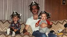 """Dads Are the Original Hipsters blogger Brad Getty as a baby in his father's lap: """"My dad is awesome and he inspired this blog as proof of it. ... Thanks for being the original hipster."""""""