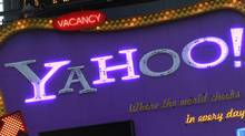 A Yahoo! billboard is seen in New York's Time's Square January 25, 2010. (BRENDAN MCDERMID/Brendan McDermid/Reuters)