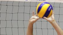 Brazil's volleyball player Bruno Rezende attends a team volleyball practice at Brazilian Volleyball Federation's training centre in Saquarema, about 60 miles (97 km) east of Rio de Janeiro, May 4, 2012. The team is preparing for the London 2012 Olympic Games. (SERGIO MORAES/REUTERS)