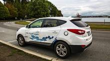 Hyundai Tucson Fuel Cell vehicle (Peter Cheney/The Globe and Mail)