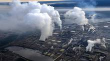 Syncrude's oil sands up-grader facility located north of Fort McMurray, Alberta. Syncrude is partly owned by Canadian Oil Sands. (Kevin Van Paassen/The Globe and Mail)
