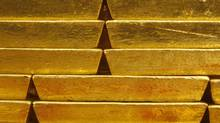 Gold bars on display in a vault at the Czech Central Bank in Prague.More than 750 tonnes of gold are currently sitting in the state coffers of Portugal, Greece and Spain. (Petr David Josek/Petr David Josek/Associated Press)