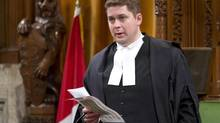 House of Commons Speaker Andrew Scheer stands during question period in the House of Commons Thursday March 28, 2013 in Ottawa. (Adrian Wyld/THE CANADIAN PRESS)