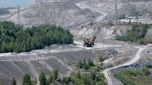 Jeffrey Asbestos Mine open pit is pictured in the town of Asbestos, Qc, July 13, 2010. (Francis Vachon For The Globe and Mail)