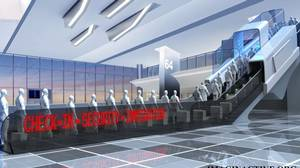 The Escatek concept offers a new way to register, pass security and make immigration checks in airports and other travel hubs