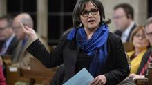 Environment Minister Leona Aglukkaq answers a question during Question Period in the House of Commons in Ottawa on Tuesday, March 31, 2015. (Adrian Wyld/THE CANADIAN PRESS)