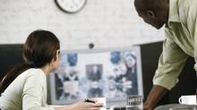 Video conference in business meeting (Comstock/Getty Images/Comstock Images)