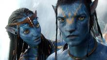 In this film publicity image released by 20th Century Fox, the character Neytiri, voiced by Zoe Saldana, and the character Jake, voiced by Sam Worthington are shown in a scene from Avatar. (TM & © 2009 Twentieth Century Fox - All Rights Reserved - Not for sale or duplication.)