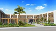 An artist rendition of the courtyard at the proposed Schulich campus in Hyderabad, India. (Schulich School of Business)