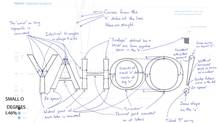 Yahoo CEO Marissa Mayer bragged about how she worked with an in-house team of four other employees (including one intern), designing the logo over a single weekend this summer. (Yahoo.com)