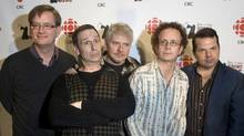Cast members of the hit TV show Kids in the Hall, from left to right: Mark McKinney, Scott Thompson, Dave Foley, Kevin McDonald and Bruce McCulloch. (CHRIS YOUNG/CHRIS YOUNG/THE CANADIAN PRESS)