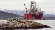 An oil drilling rig in Norway. (gigishots/Getty Images/iStockphoto)
