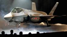 The Lockheed Martin Joint Strike Fighter is shown after it was unveiled in a ceremony in Fort Worth, Texas, in this July 7, 2006, file photo. (Ron T. Ennis/AP)