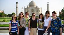 (Dell's Official Flickr Page/Canadian Entrepreneurs visit the Taj Mahal (from left to right): Andrea Lown – founder, SmartBrideBoutique.com; Sarah Prevette)