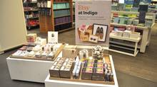 Etsy merchandise has started to appear at Indigo stores in Canada. (Etsy)
